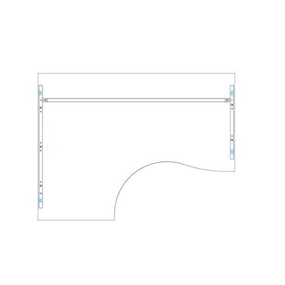 GB 180/120 íróasztal balos kivitelben