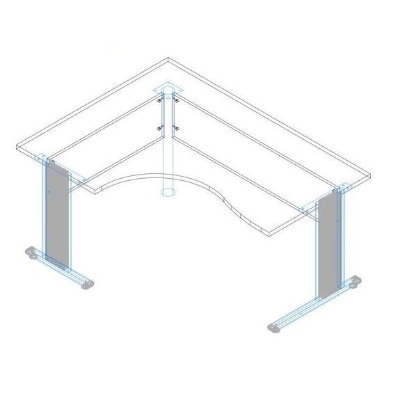 GB-180/120 fémlábas íróasztal balos kivitelben