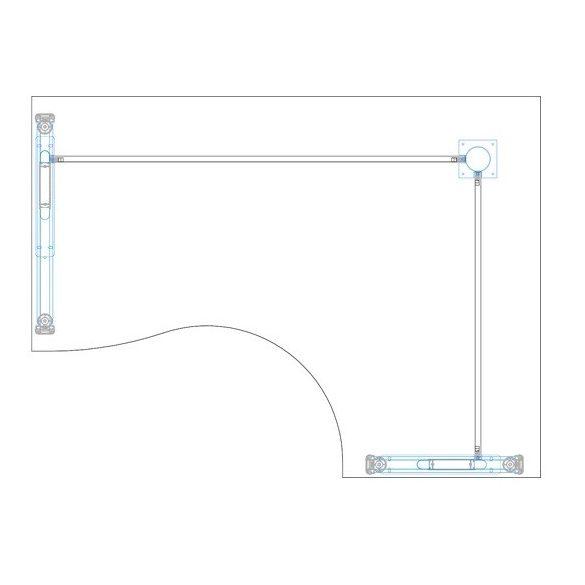 GB-180/120 fémlábas íróasztal jobbos kivitelben