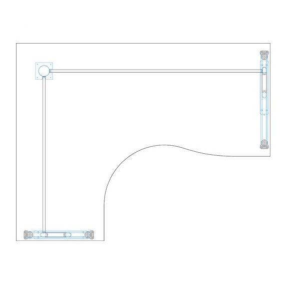GB-180/140 fémlábas íróasztal balos kivitelben