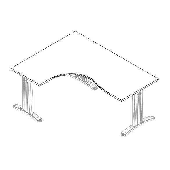 GB-180/140 lux fémlábas íróasztal balos kivitelben