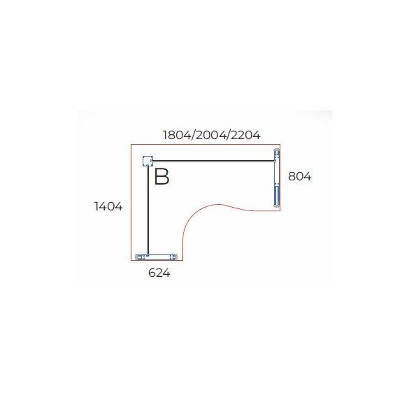 GB-220/140 fémlábas íróasztal balos kivitelben