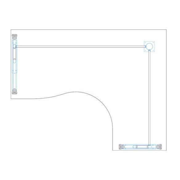GB-220/140 fémlábas íróasztal jobbos kivitelben