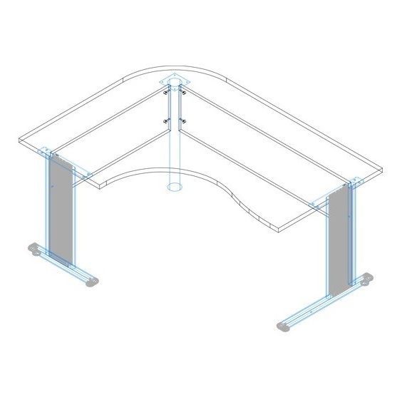 GC-160/120 fémlábas íróasztal jobbos kivitelben