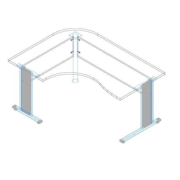 GC-180/120 fémlábas íróasztal jobbos kivitelben