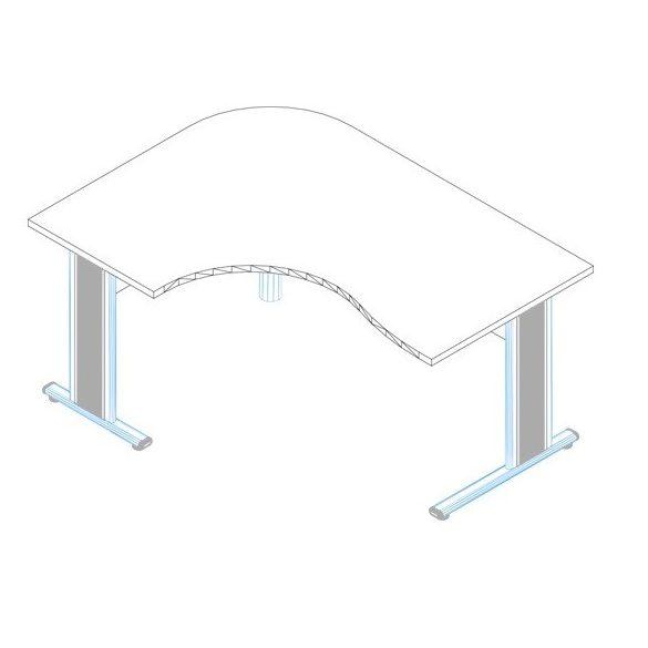 GC-200/120 fémlábas íróasztal balos kivitelben