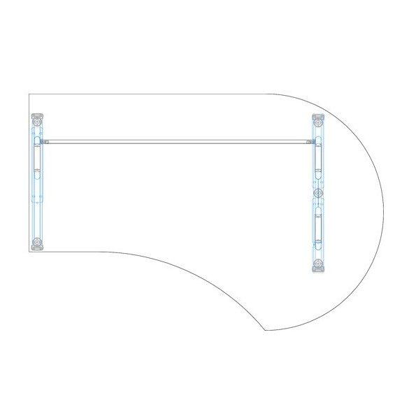 GF-200/120 fémlábas íróasztal jobbos kivitelben
