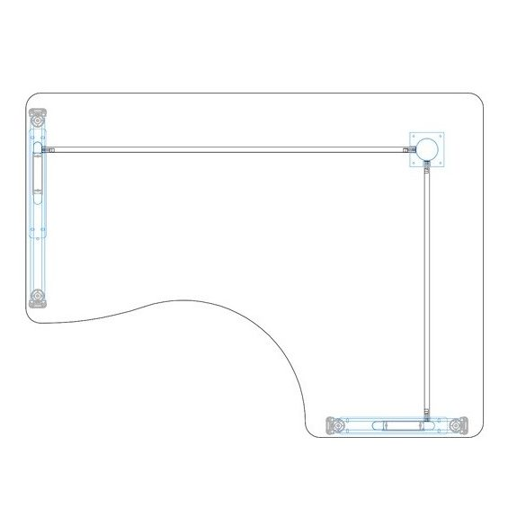 GI-160/120 fémlábas íróasztal jobbos kivitelben