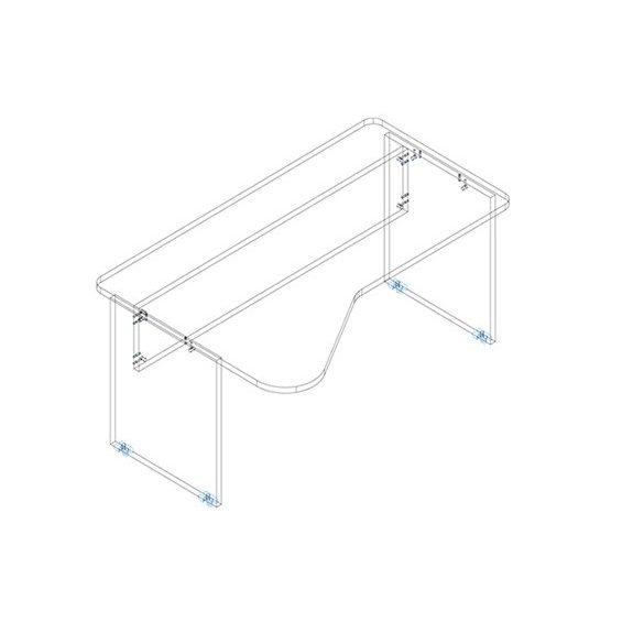 GI 180/110 íróasztal jobbos kivitelben