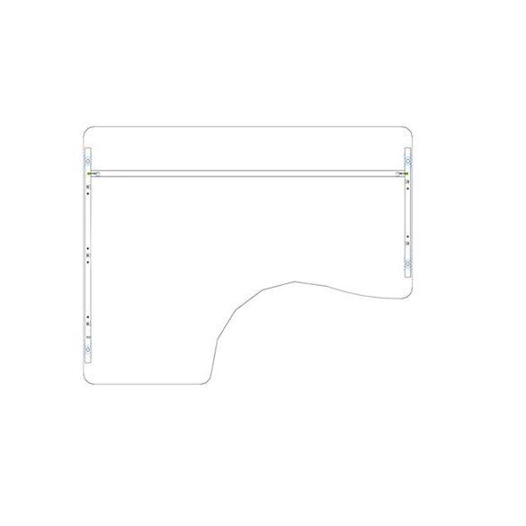 GI 180/120 íróasztal jobbos kivitelben