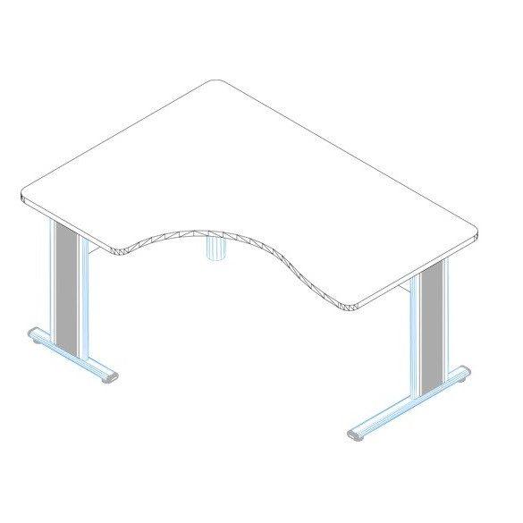 GI-180/120 fémlábas íróasztal jobbos kivitelben