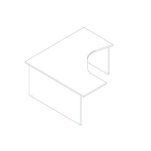 GM 160/160 íróasztal jobbos kivtelben