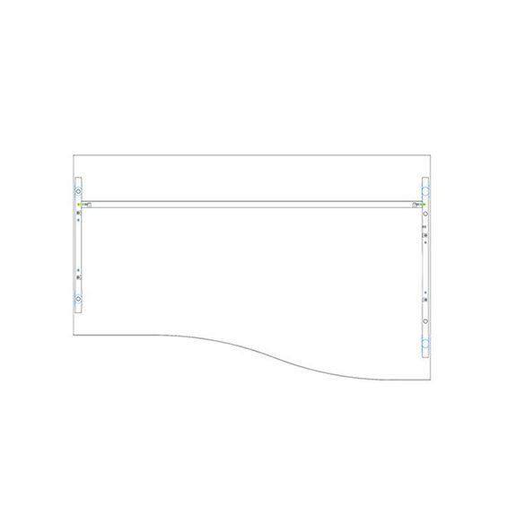 GN 160/100 íróasztal balos kivitelben