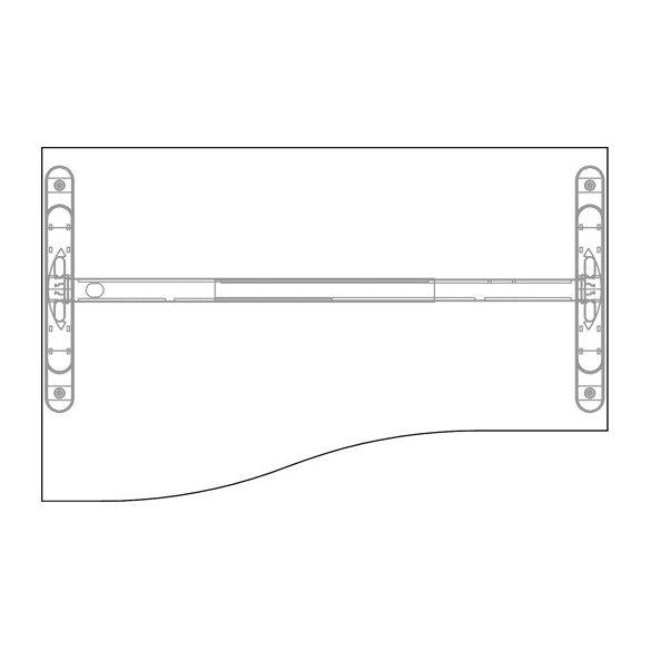GN-160/100 LUX fémlábas íróasztal balos kivitelben
