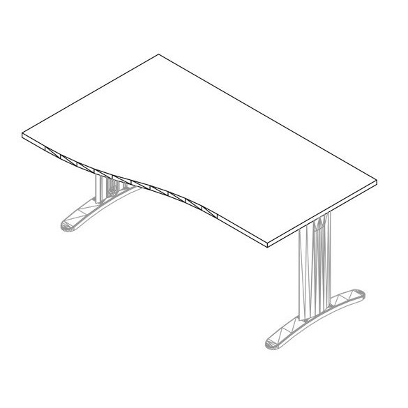 GN-180/100 LUX fémlábas íróasztal jobbos kivitelben