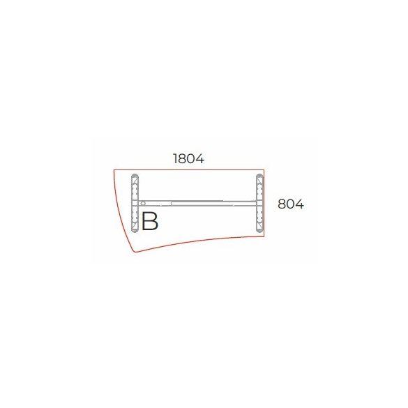 GP-180/99 LUX fémlábas íróasztal balos kivitelben