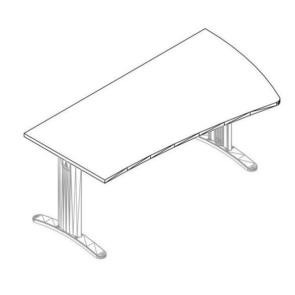 GP-180/99 LUX fémlábas íróasztal jobbos kivitelben