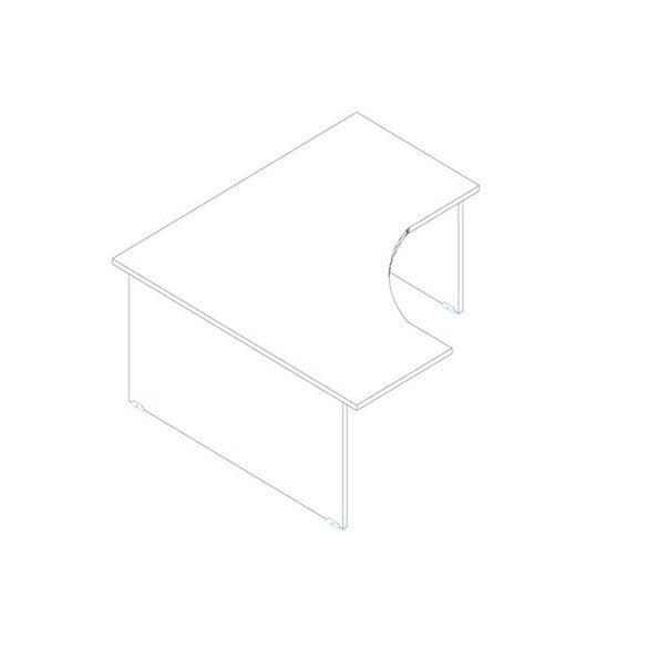 GS 160/160 íróasztal jobbos kivitelben