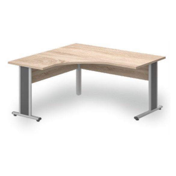 GS-160/160 fémlábas íróasztal balos kivitelben