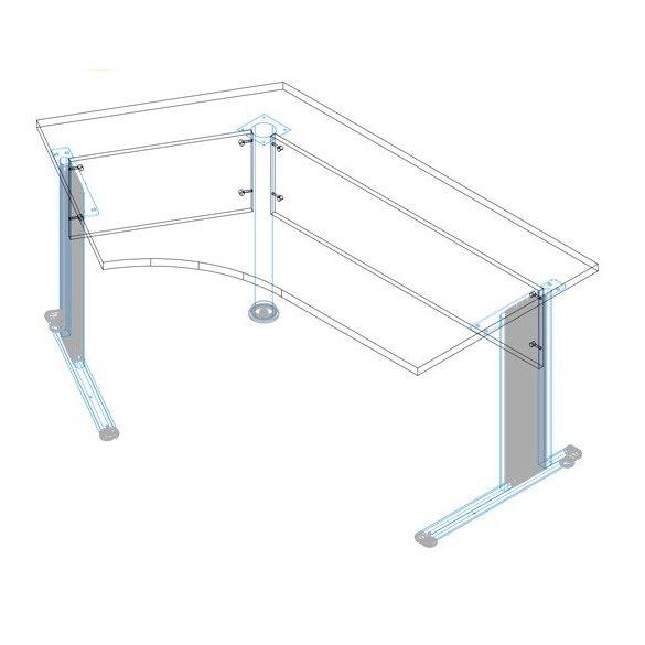 GS-180/110 fémlábas íróasztal jobbos kivitelben