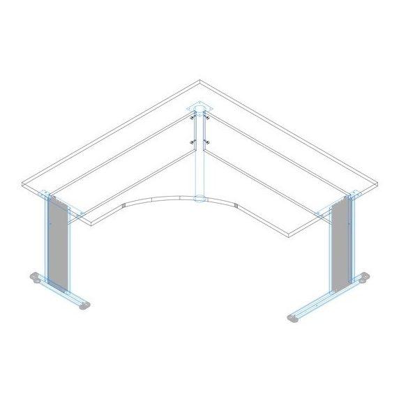 GS-180/160 fémlábas íróasztal jobbos kivitelben