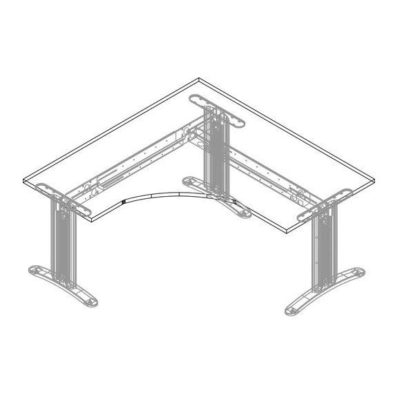 GS-180/160 LUX fémlábas íróasztal jobbos kivitelben