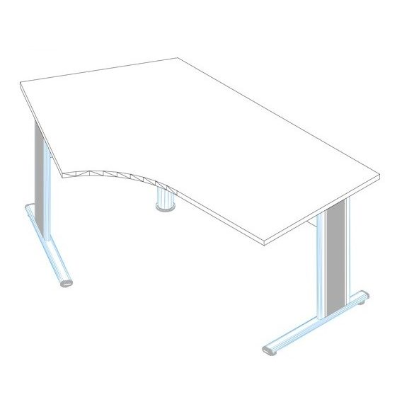 GS-200/110 fémlábas íróasztal balos kivitelben