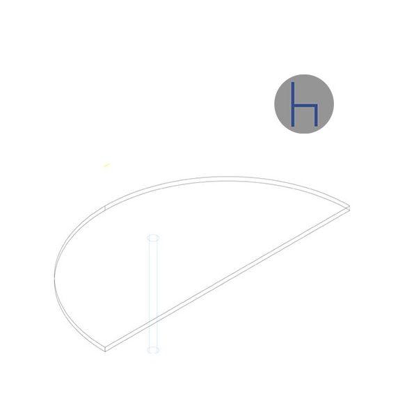 HE 180/180° asztaltoldat