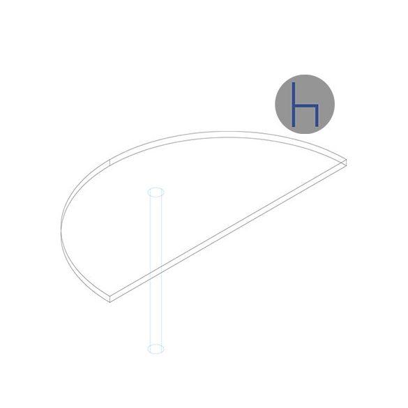 HE 62/180° asztaltoldat