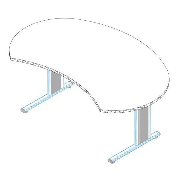IG-180/100 fémlábas vezetői íróasztal