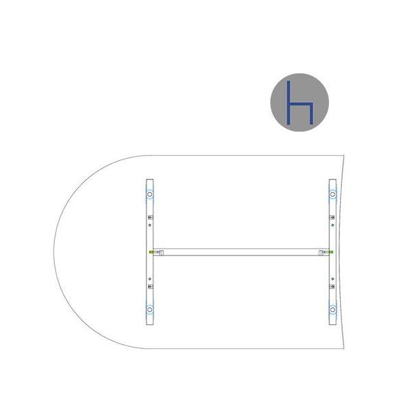IKA 120/80° asztaltoldat