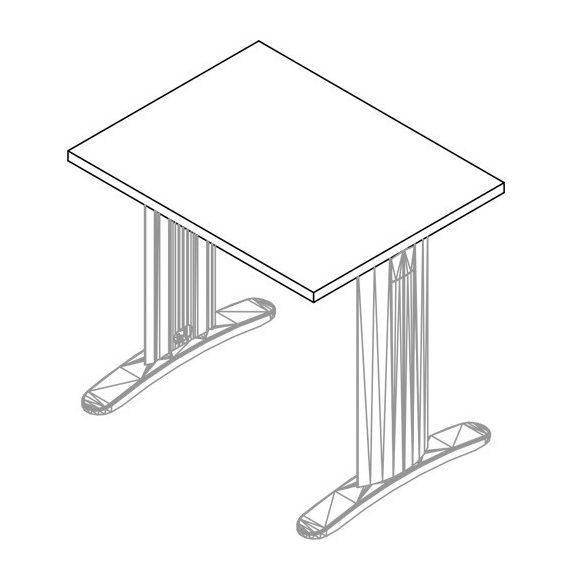 IS-80/62 LUX fémlábas íróasztal