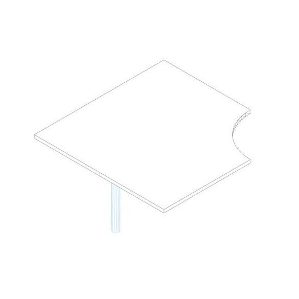 KE 120/120° asztaltoldat
