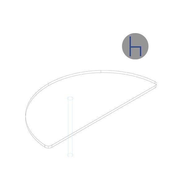 KHE 80/180° asztaltoldat