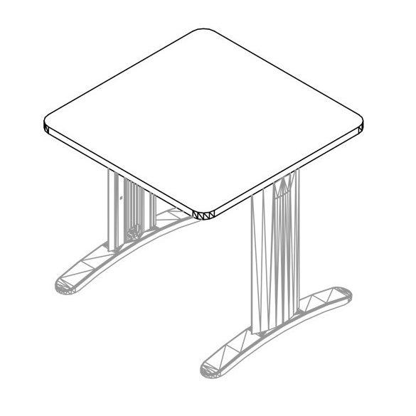 KK-120/80 LUX fémlábas íróasztal