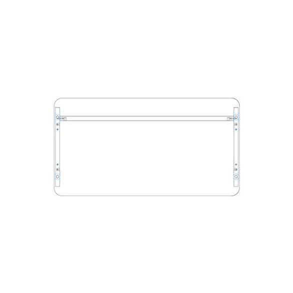 KK 140/62 íróasztal mindkét oldalt kerekített éllel