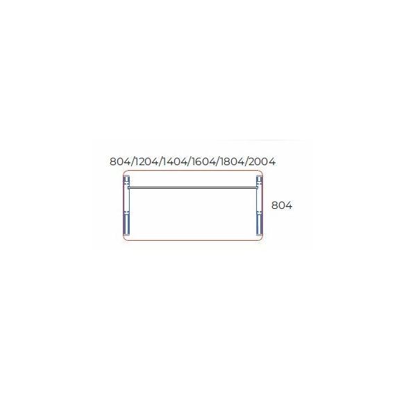 KK-140/80 fémlábas íróasztal