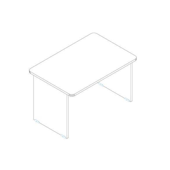 KK 180/80 íróasztal mindkét oldalt kerekített éllel