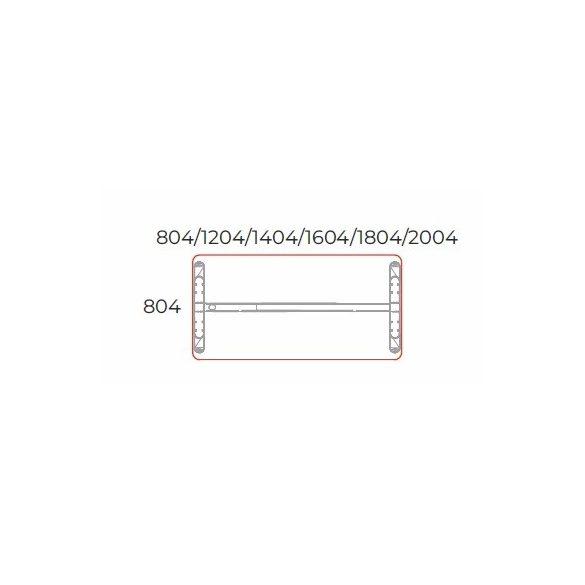 KK-180/80 LUX fémlábas íróasztal