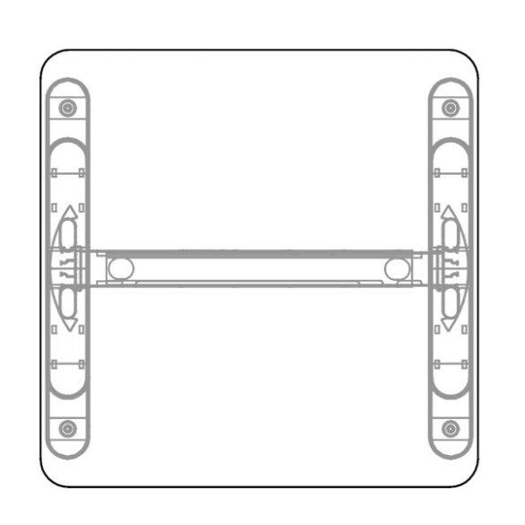 KK-80/62 LUX fémlábas íróasztal