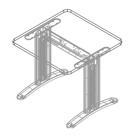 KK-80/80 LUX fémlábas íróasztal