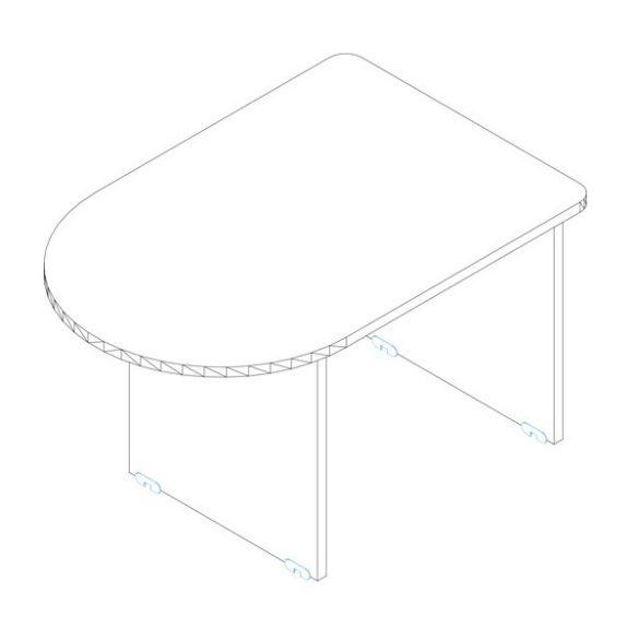 KKA 120-80 asztaltoldat