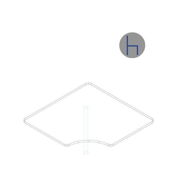 KKE 120/120° asztaltoldat