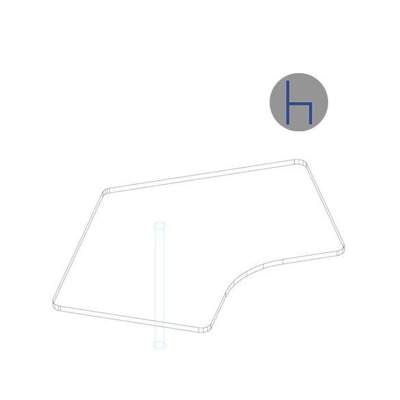 KSE 176/120° asztaltoldat