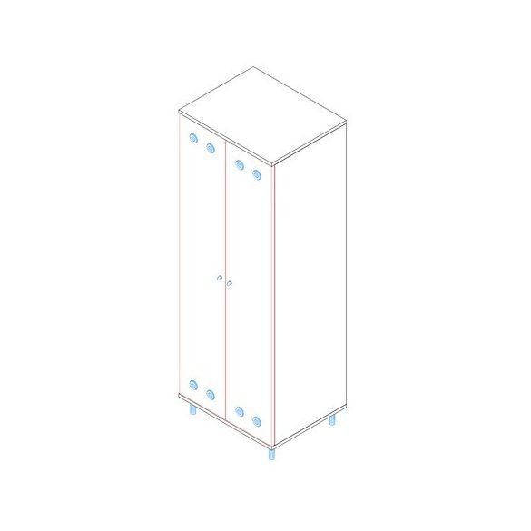 ÖSZ-2A öltözőszekrény - 2 ajtós