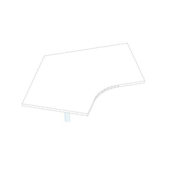SE 176/120° asztaltoldat