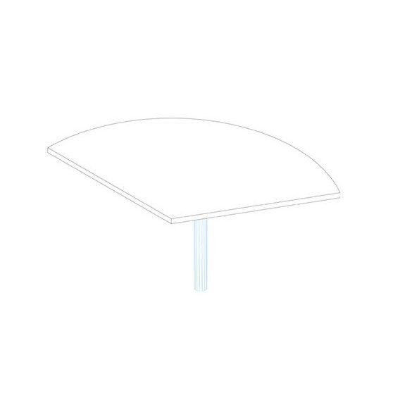 SE 80/120° asztaltoldat