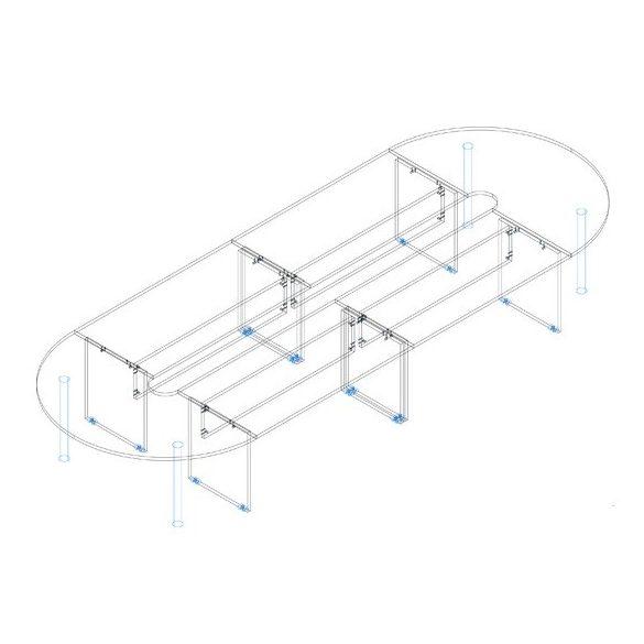 TA 506/185 tárgyalóasztal - összeállítás