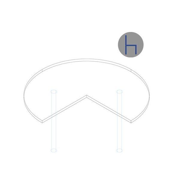 TE 62/270° asztaltoldat
