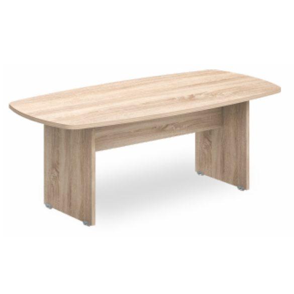 MOON kerek tárgyalóasztal, 100 x 74 cm, fehér/fehér